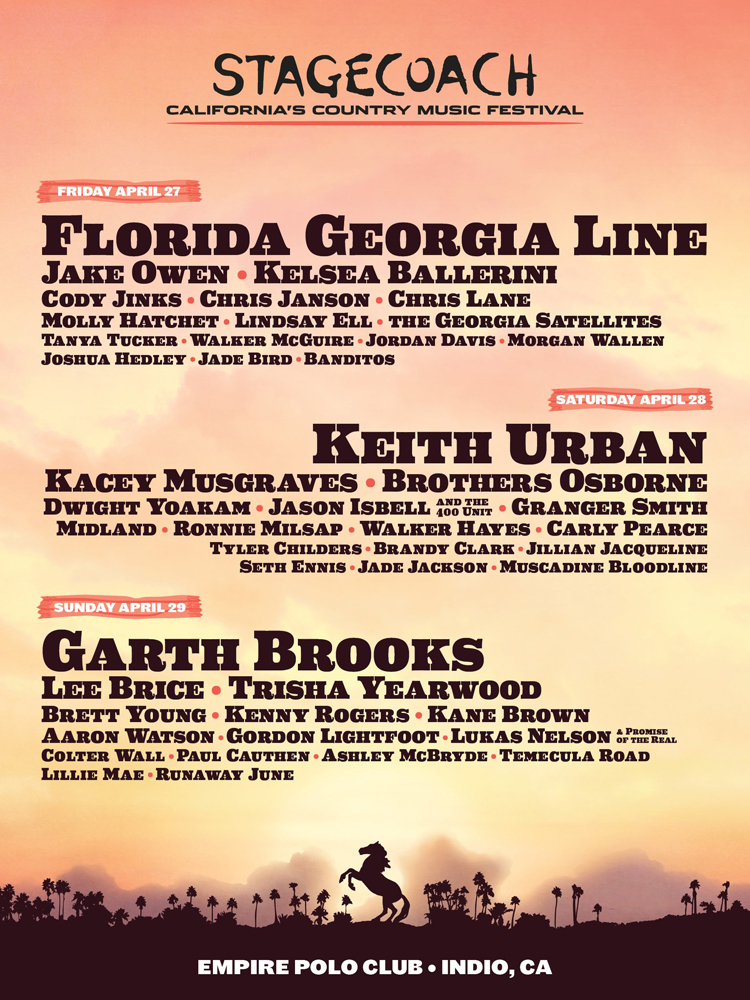 Stagecoach 2018 Lineup Poster