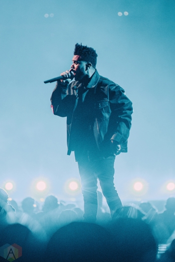 The Weeknd performs at Air Canada Centre in Toronto on September 9, 2017. (Photo: Francesca Ludikar/Aesthetic Magazine)