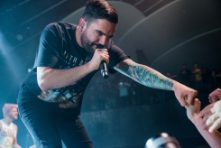 TORONTO, ONTARIO - OCTOBER 11: A Day To Remember performs at Rebel in Toronto on October 11, 2017. (Photo: Joanna Glezakos/Aesthetic Magazine)