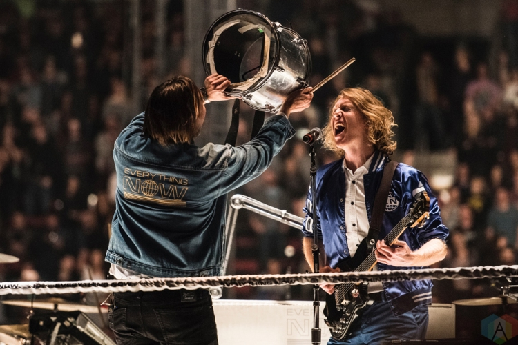 SEATTLE, WA - OCTOBER 15: Arcade Fire performs at KeyArena in Seattle on October 15, 2017. (Photo: Kevin Tosh/Aesthetic Magazine)