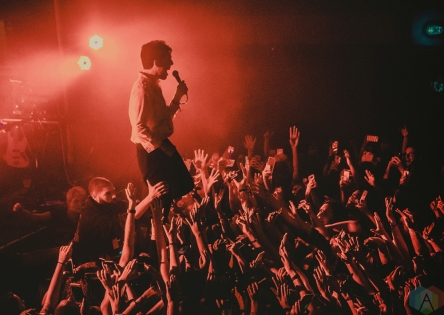 DETROIT, MI - OCTOBER 21: Bad Suns performs at St. Andrew's Hall in Detroit on October 21, 2017. (Photo: Ciara Glagola/Aesthetic Magazine)