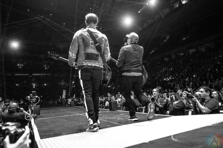TORONTO, ON - OCTOBER 25: Fall Out Boy performs at Air Canada Centre in Toronto on October 25, 2017. (Photo: Joanna Glezakos/Aesthetic Magazine)