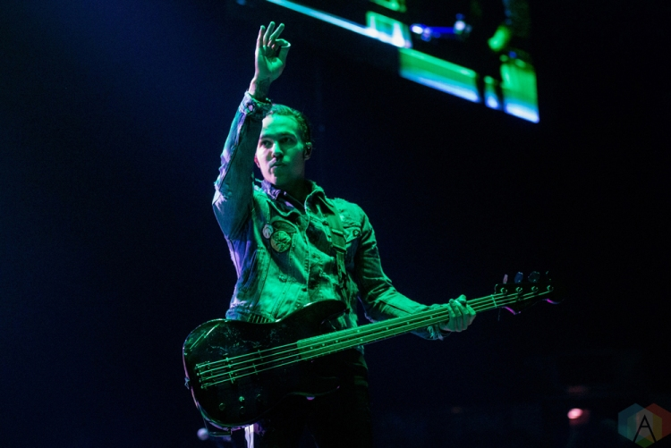 TORONTO, ON - OCTOBER 25: Fall Out Boy performs at Air Canada Centre in Toronto on October 25, 2017. (Photo: Joanna Glezakos/Aesthetic Magazine)