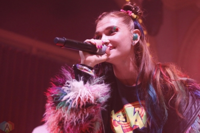 Misterwives performs at Crystal Ballroom in Portland, Oregon on October 6, 2017. (Photo: Krystyn Bristol/Aesthetic Magazine)