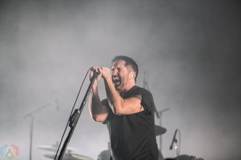 SACRAMENTO, CA - OCTOBER 21: Nine Inch Nails performs at Aftershock Festival in Sacramento, CA on October 21, 2017. (Photo: Kyle Simmons/Aesthetic Magazine)