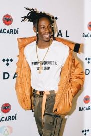 NEW YORK, NY - OCTOBER 17: Joey Badass attends the TIDAL X: Brooklyn red carpet at Barclays Center in Brooklyn, New York on October 17, 2017. (Photo: Stephan Ordonez/Aesthetic Magazine)