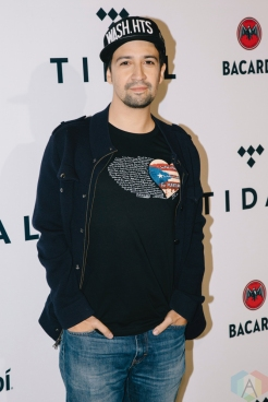 NEW YORK, NY - OCTOBER 17: Lin Manuel Miranda attends the TIDAL X: Brooklyn red carpet at Barclays Center in Brooklyn, New York on October 17, 2017. (Photo: Stephan Ordonez/Aesthetic Magazine)