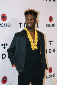 NEW YORK, NY - OCTOBER 17: Mr. Eazi attends the TIDAL X: Brooklyn red carpet at Barclays Center in Brooklyn, New York on October 17, 2017. (Photo: Stephan Ordonez/Aesthetic Magazine)