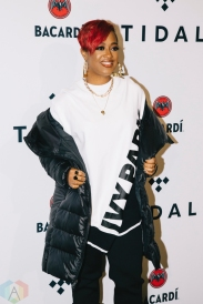 NEW YORK, NY - OCTOBER 17: Rapsody attends the TIDAL X: Brooklyn red carpet at Barclays Center in Brooklyn, New York on October 17, 2017. (Photo: Stephan Ordonez/Aesthetic Magazine)