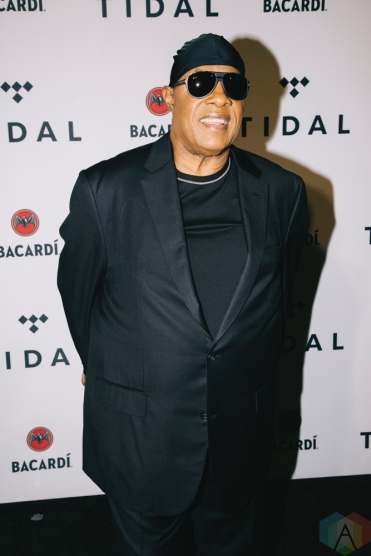 NEW YORK, NY - OCTOBER 17: Stevie Wonder attends the TIDAL X: Brooklyn red carpet at Barclays Center in Brooklyn, New York on October 17, 2017. (Photo: Stephan Ordonez/Aesthetic Magazine)