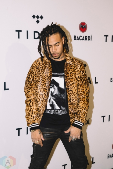 NEW YORK, NY - OCTOBER 17: Vic Mensa attends the TIDAL X: Brooklyn red carpet at Barclays Center in Brooklyn, New York on October 17, 2017. (Photo: Stephan Ordonez/Aesthetic Magazine)