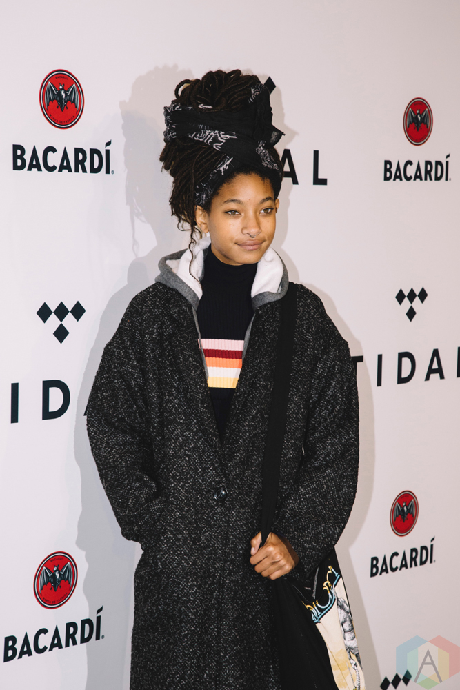 NEW YORK, NY - OCTOBER 17: Willow Smith attends the TIDAL X: Brooklyn red carpet at Barclays Center in Brooklyn, New York on October 17, 2017. (Photo: Stephan Ordonez/Aesthetic Magazine)