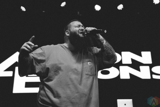 TORONTO, ON - NOVEMBER 19: Action Bronson performs at Rebel in Toronto on November 19, 2017. (Photo: Stephan Ordonez/Aesthetic Magazine)