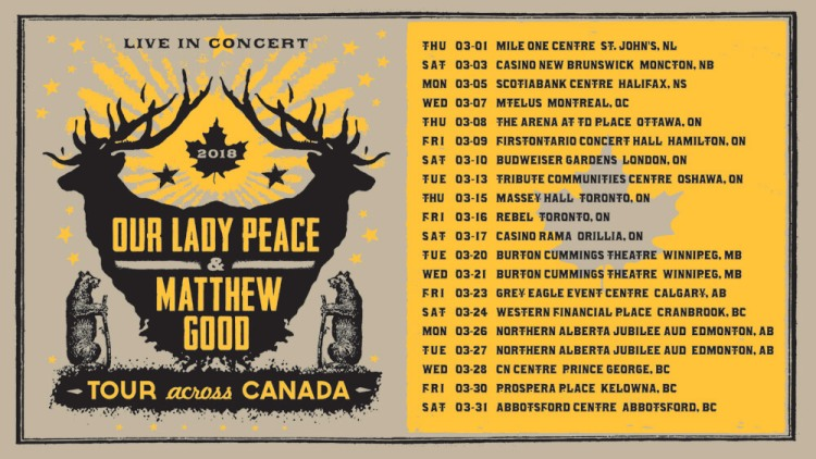 Our Lady Peace & Matthew Good 2018 Tour