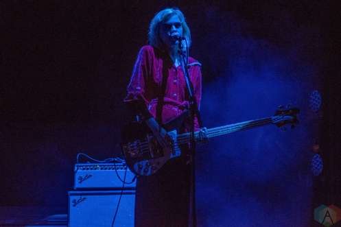 MANCHESTER, UK - NOVEMBER 9: Sunflower Bean performs at O2 Apollo Manchester in Manchester, UK on November 9, 2017. (Photo: Sabrina Ramdoyal/Aesthetic Magazine)