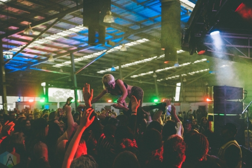 MELBOURNE, AU - DECEMBER 2: Amyl And The Sniffers perform at Gizzfest 2017 at Melbourne Showgrounds in Melbourne, Australia on December 2, 2017. (Photo: Rick Clifford/Aesthetic Magazine)