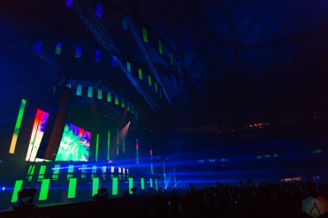 VANCOUVER, BC – Cash Cash performs at BC Place in Vancouver during Contact Winter Music Festival on December 27, 2017. (Photo: Ryan Deasley/Aesthetic Magazine)
