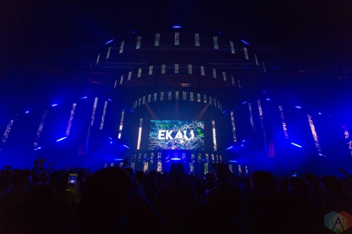 VANCOUVER, BC - Ekali performs at BC Place in Vancouver during the Contact Winter Music Festival on December 26, 2017. (Photo: Ryan Deasley/Aesthetic Magazine)