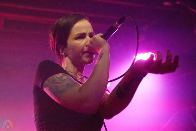 TORONTO, ON - DECEMBER 14: Ela Minus performs at Velvet Underground in Toronto on December 14, 2017. (Photo: Jaime Espinoza/Aesthetic Magazine)