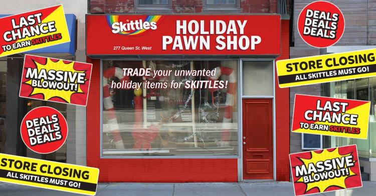 Skittles Holiday Pawn Shop in Toronto