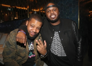 TORONTO, ON - JANUARY 9: DJ Meel (L) and DJ Steph Floss attend Dwyane Wade's birthday party at Pick 6ix in Toronto on January 9, 2018. (Photo: Johnny Nunez/Getty)