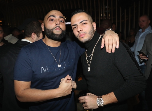 TORONTO, ON - JANUARY 9: DJ Charlie B (L) and Eric Da Jeweler attend Dwyane Wade's birthday party at Pick 6ix in Toronto on January 9, 2018. (Photo: Johnny Nunez/Getty)