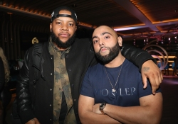 TORONTO, ON - JANUARY 9: DJ Meel (L) and DJ Charlie B attend Dwyane Wade's birthday party at Pick 6ix in Toronto on January 9, 2018. (Photo: Johnny Nunez/Getty)