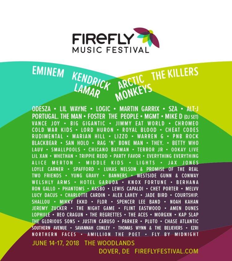 Firefly Festival Lineup 2018
