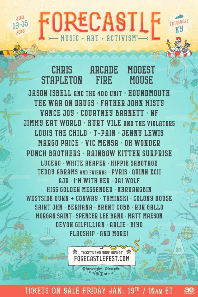 Forecastle 2018 Lineup