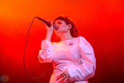 BROOKLYN, NY - JANUARY 23: Overcoats performs at Brooklyn Steel in Brooklyn, New York on January 23, 2018. (Photo: Alex Bear/Aesthetic Magazine)