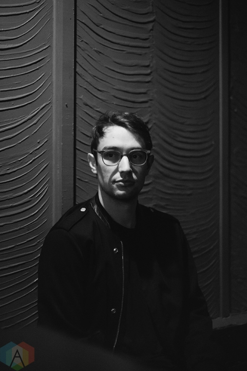 TORONTO, ON - JANUARY 27: Ellis Ludwig-Leone of San Fermin poses for a portrait backstage at Lee's Palace in Toronto on January 27, 2018. (Photo: Morgan Hotston/Aesthetic Magazine)