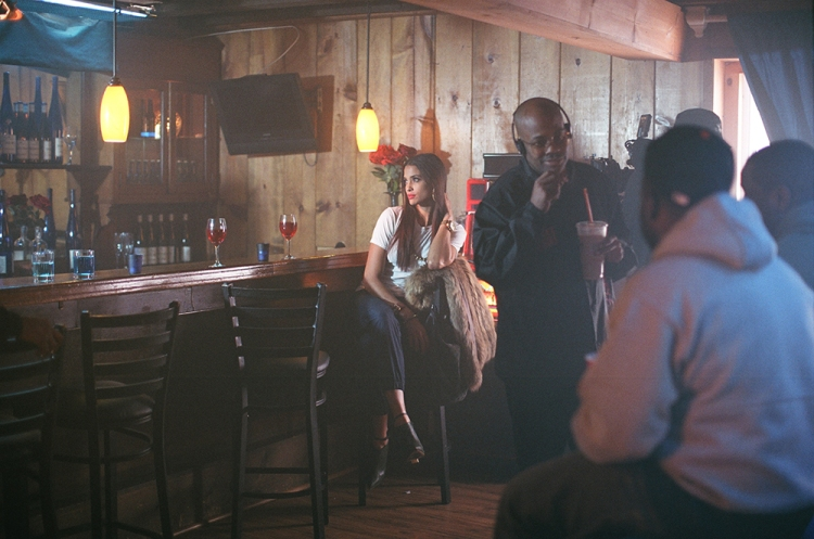 """Dame Dash on the set of """"Honor Up."""""""