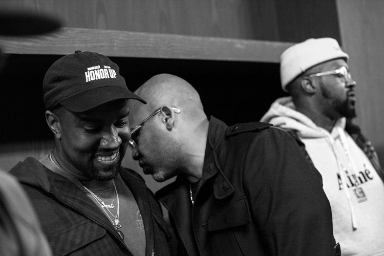 Kanye West (L) and Dame Dash.