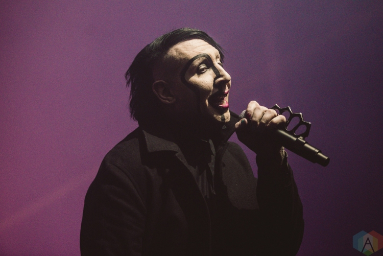 TORONTO, ON - FEBRUARY 11: Marilyn Manson performs at Rebel in Toronto on February 11, 2018. (Photo: Joanna Glezakos/Aesthetic Magazine)