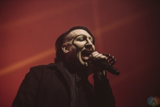 TORONTO, ON - FEBRUARY 11: Marilyn Manson performs at Rebel in Toronto on February 11, 2018. (Photo: Joanna Glezakos/Aesthetic Magazine)