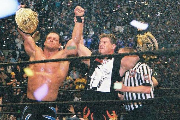 Chris Benoit and Eddie Guerrero at Wrestlemania 22
