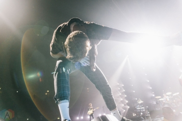 MANCHESTER, UK - MARCH 03: Dan Reynolds of Imagine Dragons performs at Manchester Arena in Manchester on March 03, 2018. (Photo: Priti Shikotra/Aesthetic Magazine)