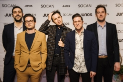 VANCOUVER, BC - MARCH 24: Arkells attend the Juno Gala Dinner at Vancouver Convention Centre East in Vancouver, BC on March 24, 2018. (Photo: Tim Nguyen/Aesthetic Magazine)