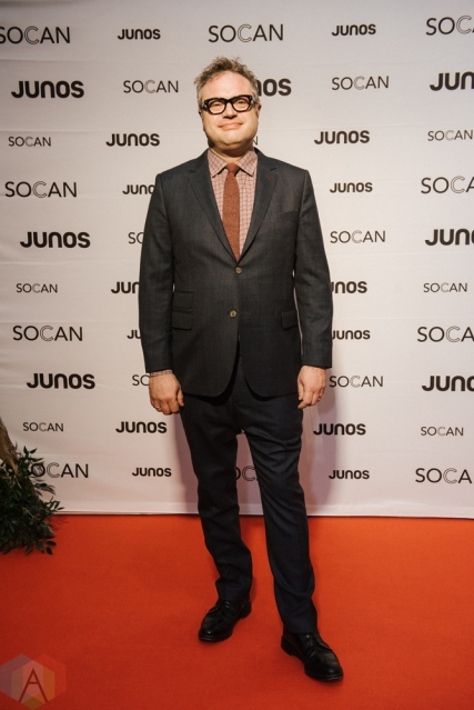 VANCOUVER, BC - MARCH 24: Steven Page attends the Juno Gala Dinner at Vancouver Convention Centre East in Vancouver, BC on March 24, 2018. (Photo: Tim Nguyen/Aesthetic Magazine)