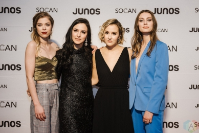 VANCOUVER, BC - MARCH 24: The Beaches attend the Juno Gala Dinner at Vancouver Convention Centre East in Vancouver, BC on March 24, 2018. (Photo: Tim Nguyen/Aesthetic Magazine)