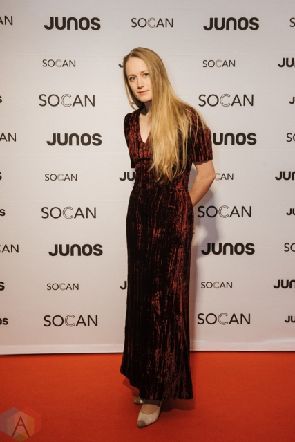 VANCOUVER, BC - MARCH 24: The Weather Station attends the Juno Gala Dinner at Vancouver Convention Centre East in Vancouver, BC on March 24, 2018. (Photo: Tim Nguyen/Aesthetic Magazine)