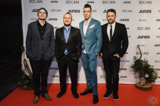 VANCOUVER, BC - MARCH 24: Theory Of A Deadman attends the Juno Gala Dinner at Vancouver Convention Centre East in Vancouver, BC on March 24, 2018. (Photo: Tim Nguyen/Aesthetic Magazine)