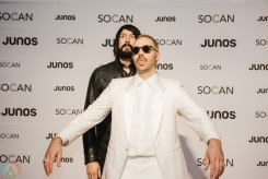 VANCOUVER, BC - MARCH 24: Death From Above 1979 attends the Juno Gala Dinner at Vancouver Convention Centre East in Vancouver, BC on March 24, 2018. (Photo: Tim Nguyen/Aesthetic Magazine)