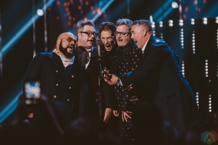 VANCOUVER, BC - MARCH 25: Barenaked Ladies attend the Juno Awards at Rogers Arena in Vancouver on March 25, 2018. (Photo: Tim Nugyen/Aesthetic Magazine)