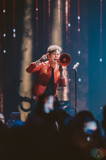 VANCOUVER, BC - MARCH 25: Arkells perform at the Juno Awards at Rogers Arena in Vancouver on March 25, 2018. (Photo: Tim Nugyen/Aesthetic Magazine)