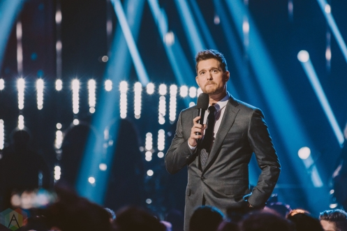 VANCOUVER, BC - MARCH 25: Michael Buble hosts the Juno Awards at Rogers Arena in Vancouver on March 25, 2018. (Photo: Tim Nugyen/Aesthetic Magazine)