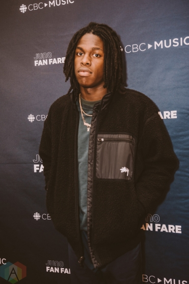 BURNABY, BC - MARCH 24: Daniel Caesar attends JUNO Fan Fare in Burnaby, BC on March 24, 2018. (Photo: Tim Nguyen/Aesthetic Magazine)