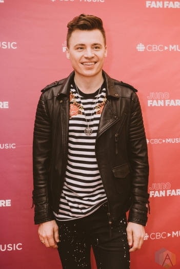 BURNABY, BC - MARCH 24: Shawn Hook attends JUNO Fan Fare in Burnaby, BC on March 24, 2018. (Photo: Tim Nguyen/Aesthetic Magazine)