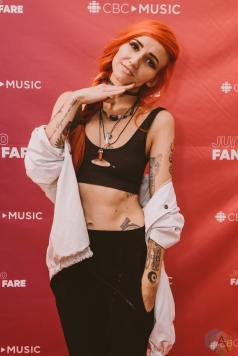 BURNABY, BC - MARCH 24: Lights attends JUNO Fan Fare in Burnaby, BC on March 24, 2018. (Photo: Tim Nguyen/Aesthetic Magazine)