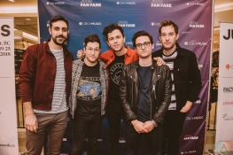 BURNABY, BC - MARCH 24: Arkells attend JUNO Fan Fare in Burnaby, BC on March 24, 2018. (Photo: Tim Nguyen/Aesthetic Magazine)